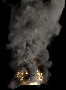 volcano explosions 3d max