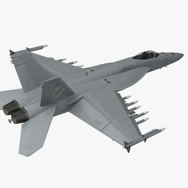 fighter fa 18ef super hornet 3d model