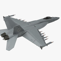 Fighter FA 18EF Super Hornet Rigged