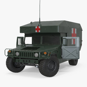 maxi ambulance military car 3d max