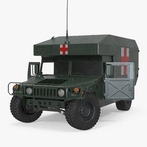maxi ambulance military car 3d max