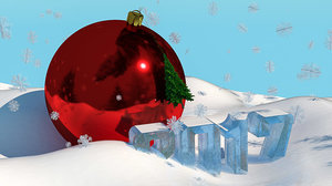 3d christmas tree new year