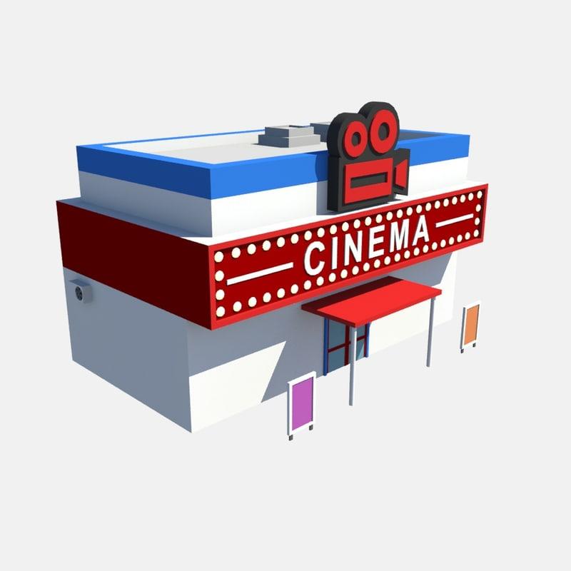 3d build cinema model