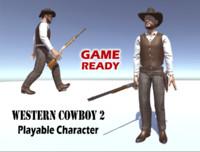 western cowboy man 3d model