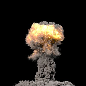 nuclear explosion 3d max