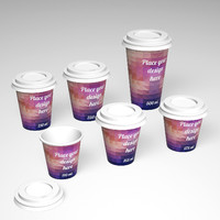 3d paper cup 110 ml