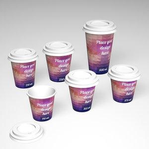 3d paper cup 110 ml