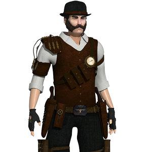 max character steampunk sheriff
