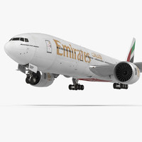 3d model boeing 777 200lr emirates
