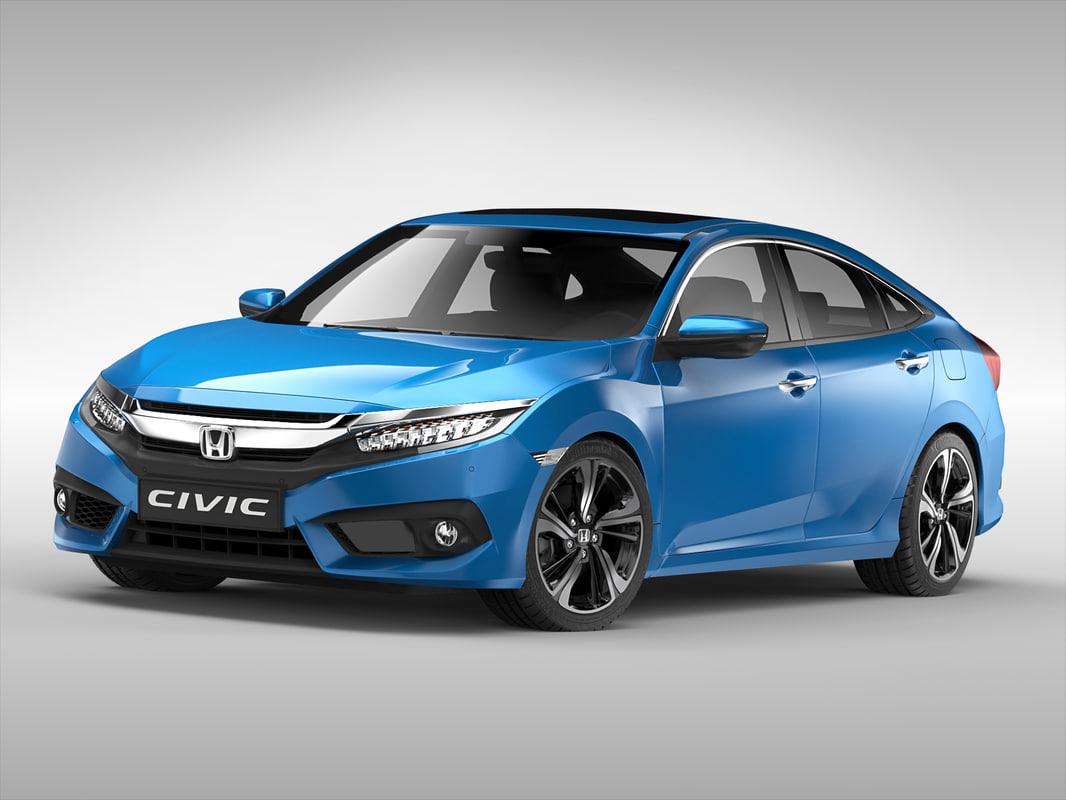 3d model honda car