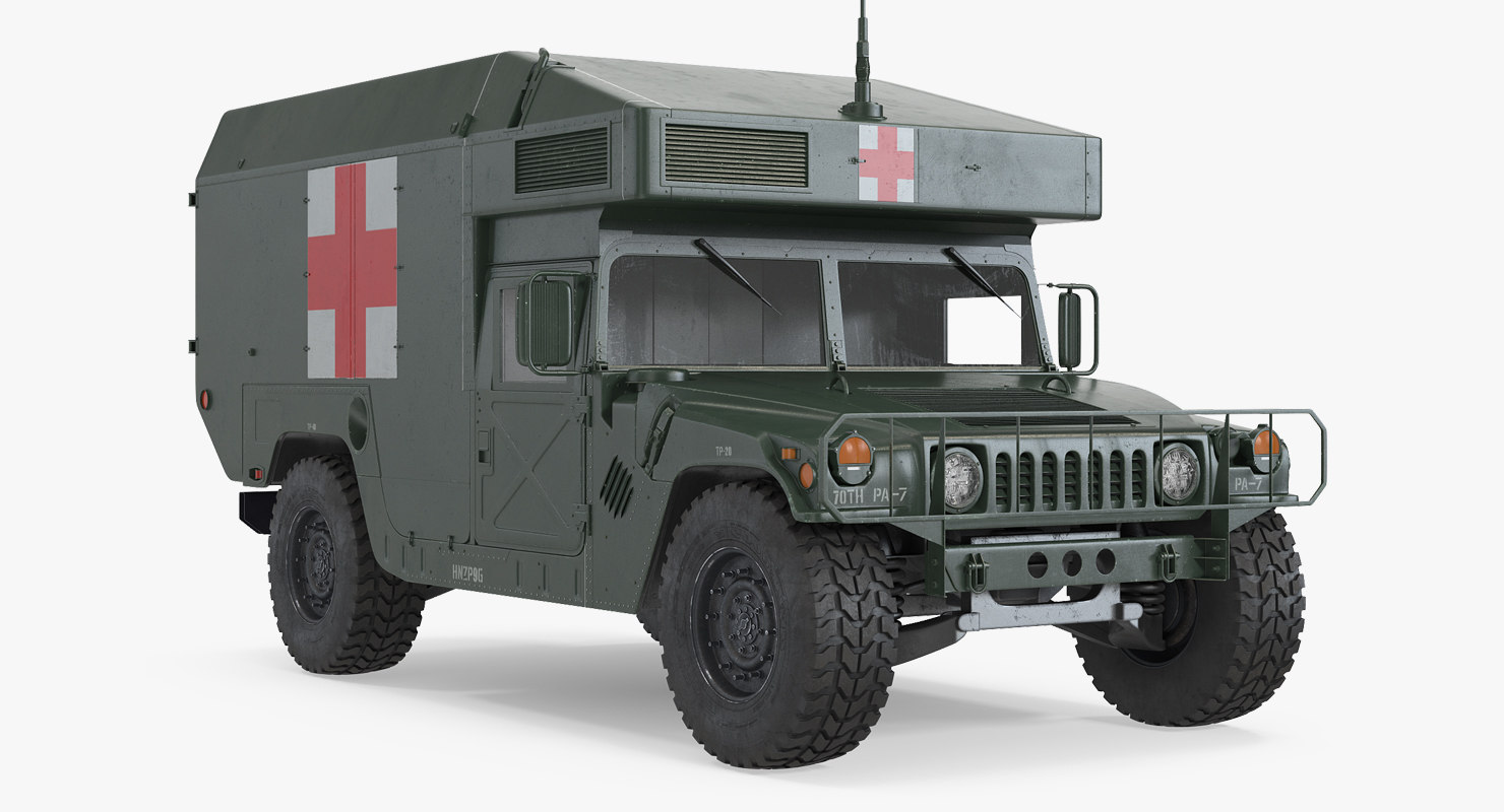 3d maxi ambulance military car model