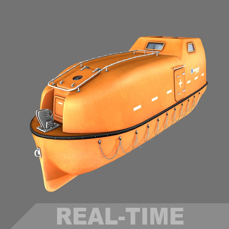 vanguard totally enclosed lifeboat 3d model