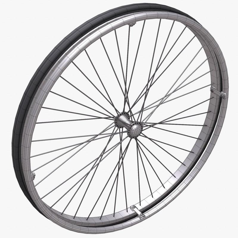 3d model wheelchair wheel