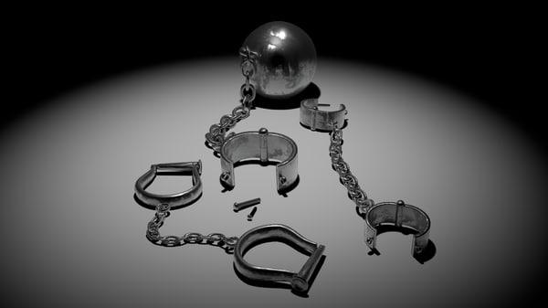 medieval shackles 3d obj