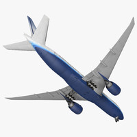 boeing 777 200lr united airlines 3ds