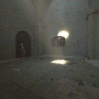 3d model old prison cell tunnel