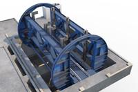 mine complex 3d model