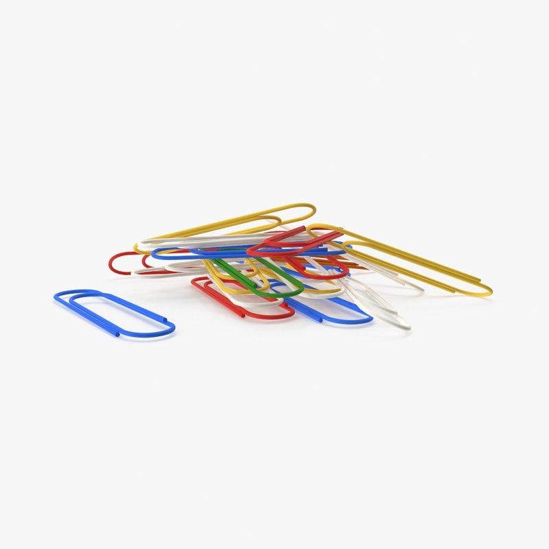 3d paperclip 02 model
