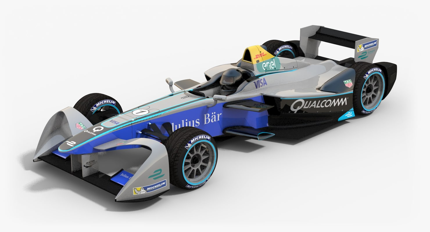 3d model of generic srt-01e formula e