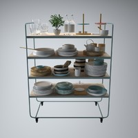 Tableware Set Stand