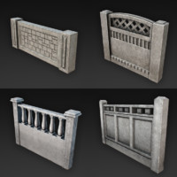 3d concrete fences