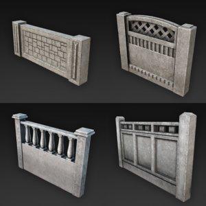 3d concrete fences