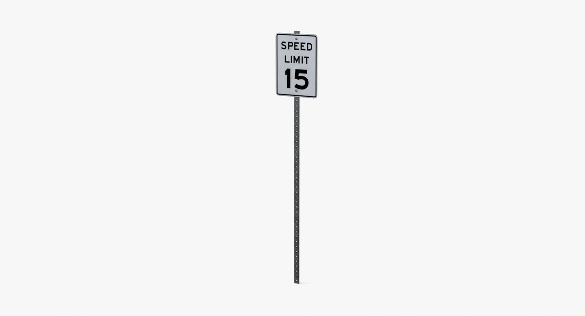 speed limit sign 15 max
