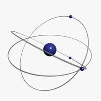 atom 3d model