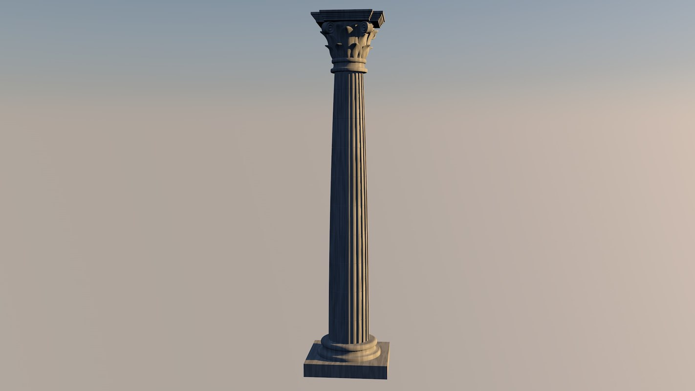 3d model of corinth column