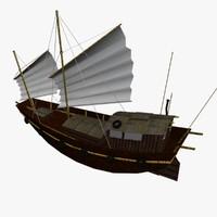 3d junk boat