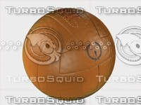 3d model vintage soccerball leather