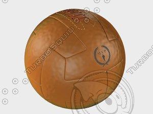 3d model vintage soccerball leather