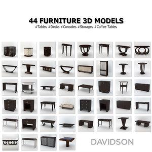 davidson furniture 3d x