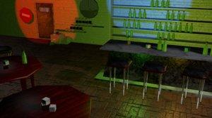 bar music 3d blend