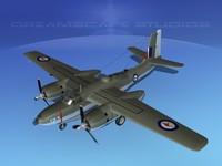 radial douglas invader bomber 3d max