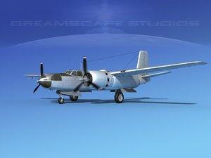 3d model of douglas a-26c a-26 bomber
