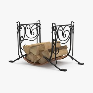 3d firewood-storage-rack