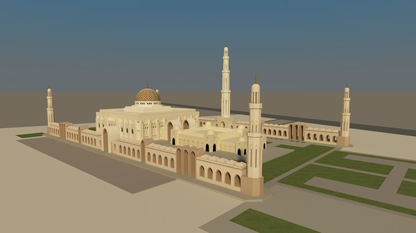 sultan qaboos grand mosque 3d model