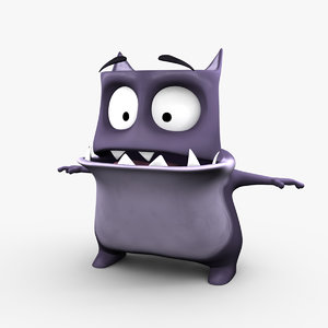 3d skatch cute monster model