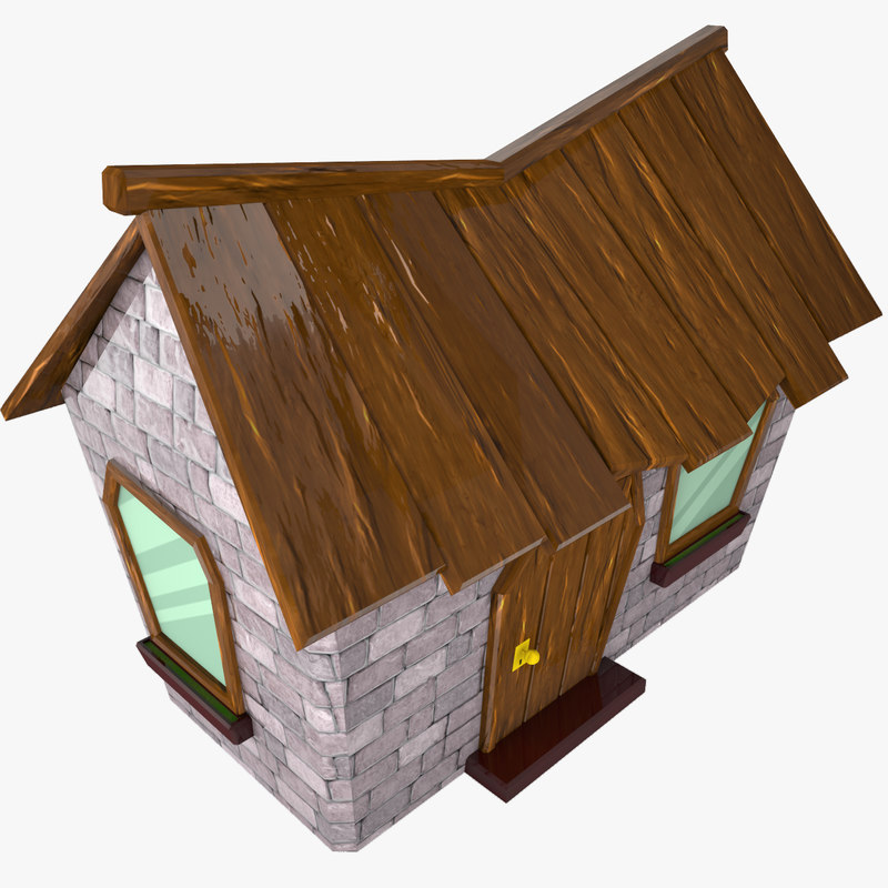 cartoon house 3d max