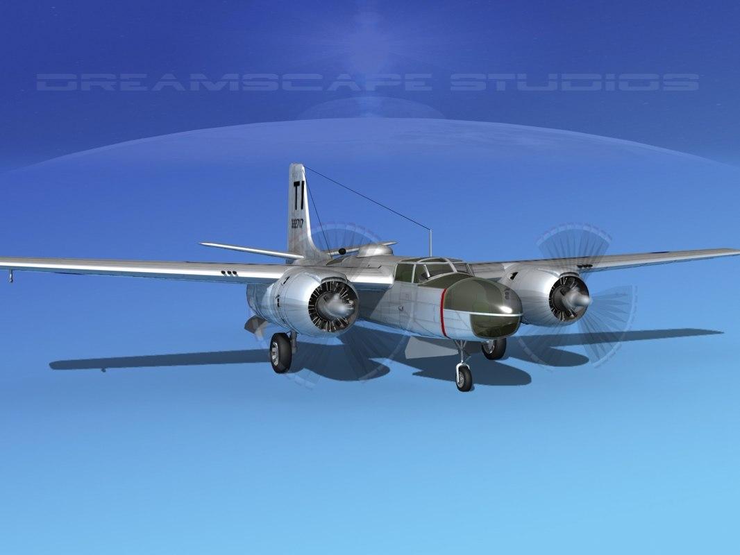 douglas a-26c a-26 bomber 3d 3ds