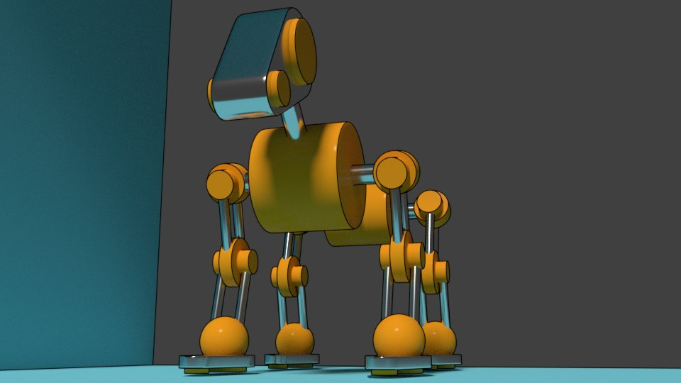 3d model mechanical dog