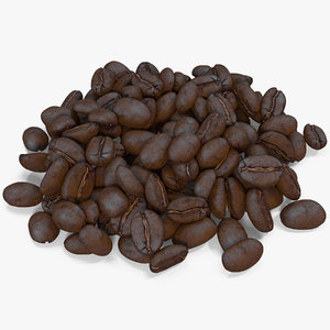 3d model roasted coffee bean 9