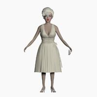 human lady girl 3d max
