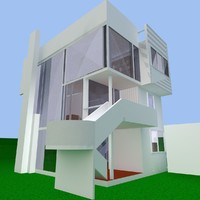 smith house 3d dxf