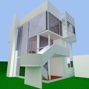 smith house 3d dxf