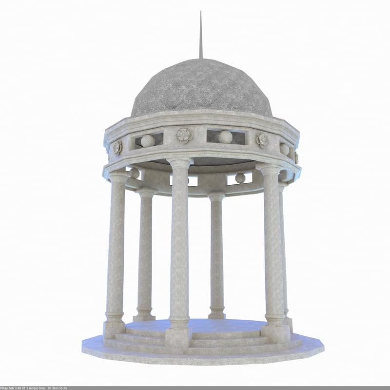 3d classic rotunda gazebo