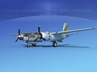 3d max douglas a-26c a-26 bomber