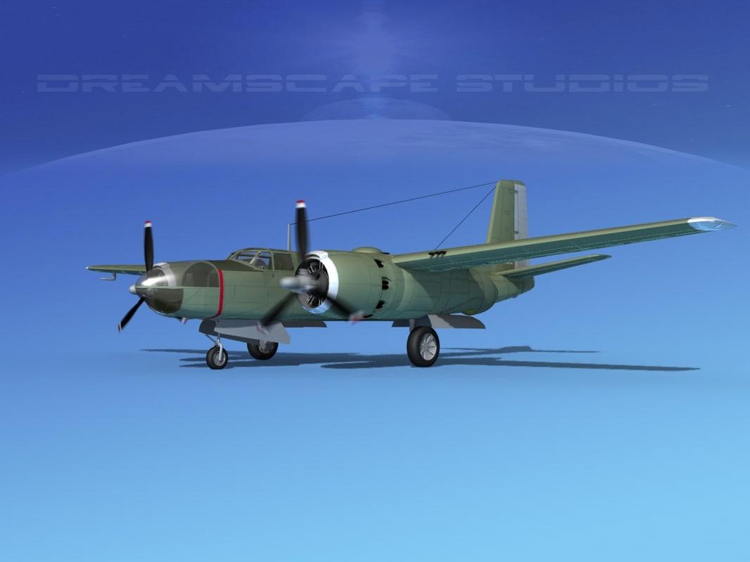 douglas a-26c a-26 bomber 3d dxf