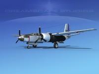 douglas a-26c a-26 bomber 3d model